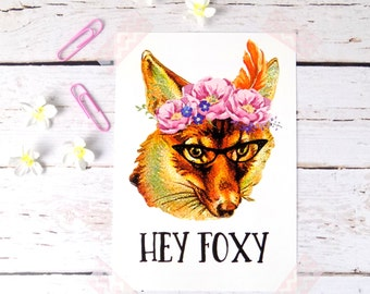Fox Postcard, Cute Fox Stationary