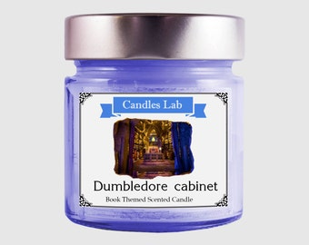 Albus Dumbledore's Cabinet Soy Scented Candle Inspired by Harry Potter Dumbledore's Study Soy Candle Sugary Lemon Drops Dumbledore's Office