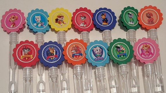 Paw patrol mini bubble wands birthday party favors set of 15 for Mini bubble wands