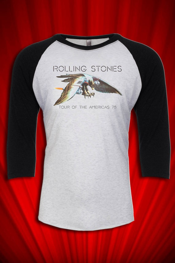 Rolling Stones Vintage Tour Tee T Shirt Jersey 1975 America