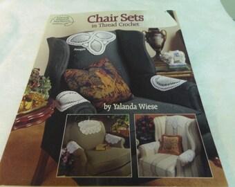 Crochet Patterns, Chair Sets in Thread Crochet, American School of Needlework 1993 Yalanda Wiese Home Decor, Room Decor