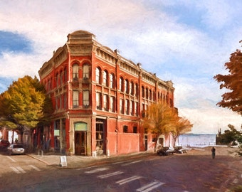 Port Townsend, Washington, Historical Victorian Architecture, Victorian CIty, Urban Art, Cityscape, Large Prints, Available on Canvas