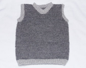 Hand-knit Baby Vest 12-24 month