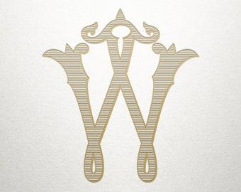 Single Vintage Letter - W - Vintage Letter - Digital