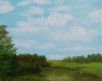 Mini - Somewhere in Virginia - 5 x 5 Oil on Canvas