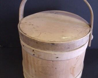 19thC. Antique Primitive Sugar Bucket