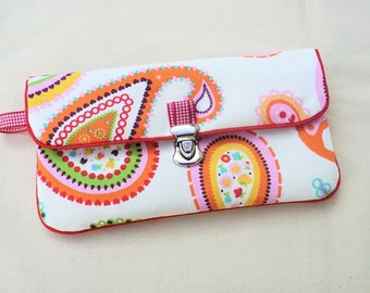 """Door pocket currency & checkbook with flap """"Colorful cashmere"""""""