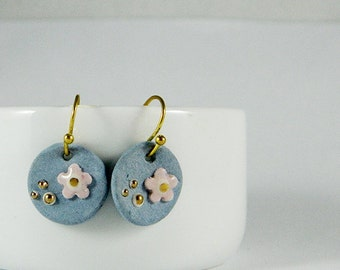 Blue Garden Earrings