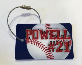 Bundle of 12-Baseball Bag Tags