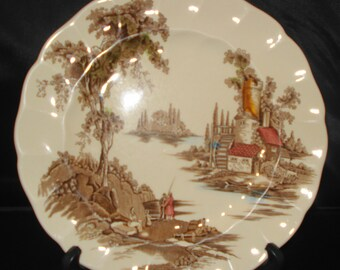 Decorative dinner plate The Old Mill by Johnson Bros