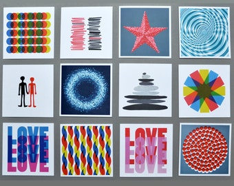 5 Greetings Cards - pick and mix your own selection