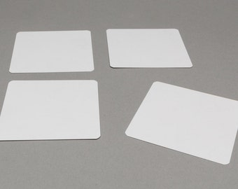 Blank playing cards squared
