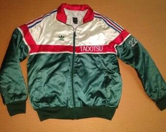 Vintage 90s Adidas Satin Tracktop Jacket Three Colour Hip Hop