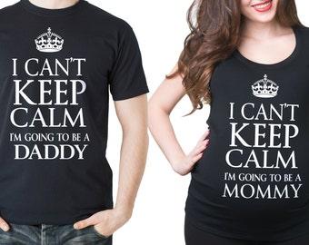 Couple Maternity T-Shirts Dad Maternity Photo Shoot Pregnancy T-Shirt Maternity Tees