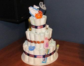 NY Giants Diaper Cake