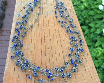 Beaded Crochet Wire Necklace