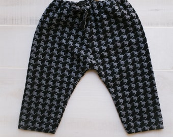 Black Houndstooth Infant Trousers Ready Made