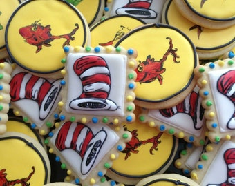 Dr. Seuss Cookies One Fish Two Fish