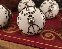Anthropology Chronograph Knob White Clock Hatfield & Ross Pull, Hardware Furniture Knobs, Cabinet Pulls, Item #465181681