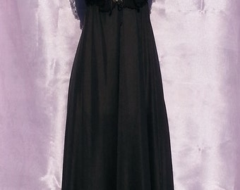 Vintage long black gown