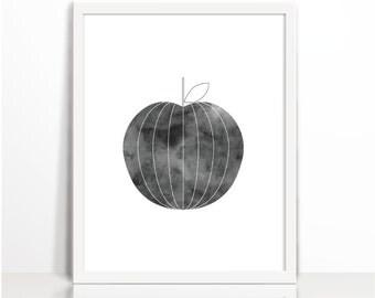 Kitchen Print, Printable Art, Typography Print, Wall Art, Kitchen Decor, Home Decor, Kitchen, apple