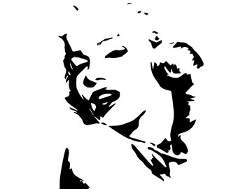 Marilyn Monroe eps files, Marilyn Monroe Silhouette, Actress, Movies, Music, instant download, SVG file