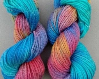 Quantum- Hand dyed yarn, bulky weight, 136 yards, 100% wool