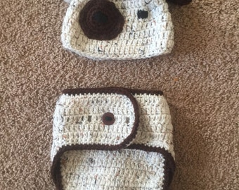 Puppy Diaper Cover and Hat