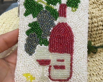 100% handmade Cocacolar shaped red wallet, square change purse