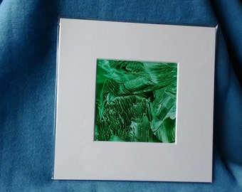 Green Encaustic Wax Picture