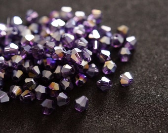 50 tops Crystal 4 mm BICONES