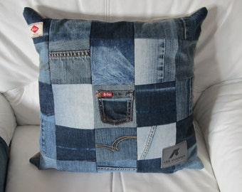 Recycled jeans Cushion cover