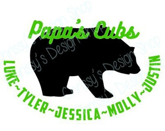 Papa bear SVG / dad svg /Papa dxf / Papa EPS / Papa's cubs for silhouette and cutting machines / father's day gifts / grandpa