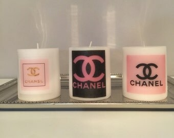 Pink fashion candle set