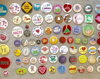 Lot of 250 vintage pins