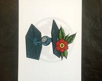 Star Wars Tie Fighter Print