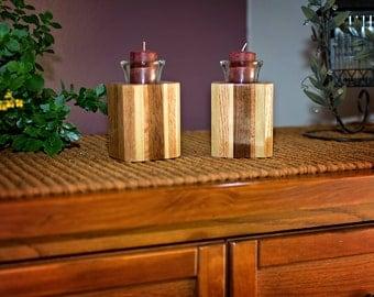 Candle Room Decor, Glass Votive Candles, Votive Candleholder, Candle Display, Wood Votive Holder, Glass Votives, Votive Candle Set
