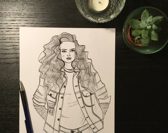Fashion illustration 'Josie'