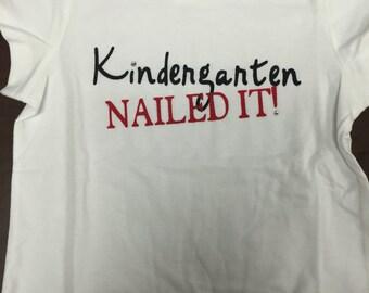 """Kindergarten """"nailed it"""""""