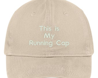This Is My Running Cap Embroidered Brushed 100% Cotton Baseball Cap - 5 Colors! (TXT801-SAN-CP77)