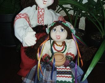 Two dolls UKRAINIAN folklore, original gift!