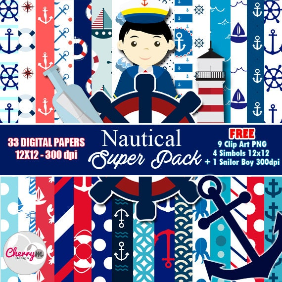 Nautical clip art | Etsy