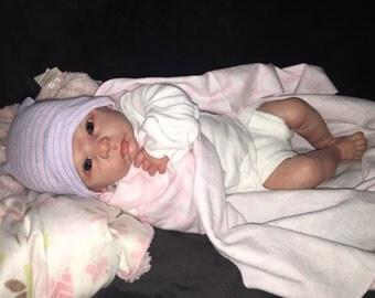 Chloe reborn doll .One week old!