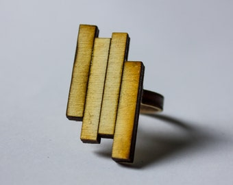 Modern design laser cut ring