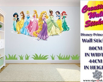 Disney Princesses Wall Art/Decal Sticker Kids Room w80cm x h44cm