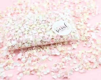 Blush Cream Confetti Bag | Wedding Confetti | Bachelorette | Baby Shower Confetti | Table Confetti | Birthday Party | Pink and Cream Wedding