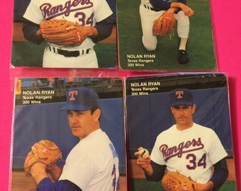 1991 Mother's Cookies - Nolan Ryan - Texas Rangers - Set of 4 Cards