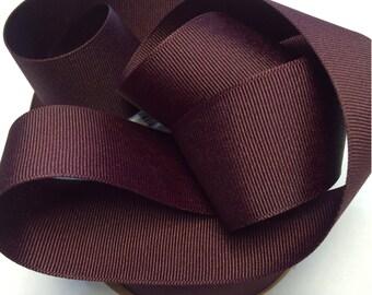 "1.5""  Grosgrain Ribbon,   in Beautiful  Burgandy_Marron."