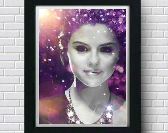 Selena Gomez Wall Art, Art Print, Painting, Artwork, Poster, Pop Art