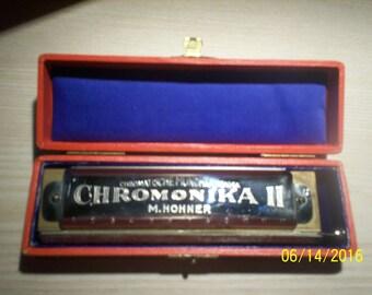 M. HOHNER CHROMONIKA II - Vintage Harmonica - Chromatische Mundharmonika
